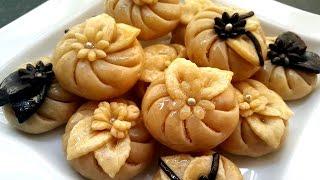 getlinkyoutube.com-حلويات مغربية: حلوة الرشمة (المقادير في الوصف) gâteaux marocains au amandes