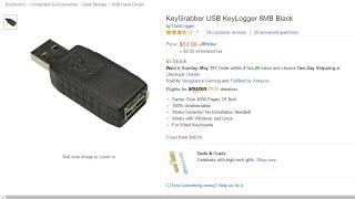 getlinkyoutube.com-KeyGrabber USB KeyLogger 8MB Black