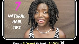 getlinkyoutube.com-4C NATURAL HAIR: 7 TIPS for GROWTH & Length Retention