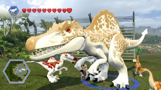 getlinkyoutube.com-Lego Jurassic World - HYBRIDS! ( Free Roam GamePlay )