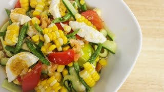 Corn & Cucumber Salad Recipe ตำแตงข้าวโพด - Hot Thai Kitchen!