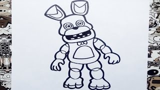 getlinkyoutube.com-Como dibujar a bonnie de fnaf adventure | how to draw bonnie fnaf adventure