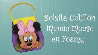 getlinkyoutube.com-DIY Bolsita Dulcero Minnie Mouse en Foami, Goma Eva, Microporoso, Easy Crafts