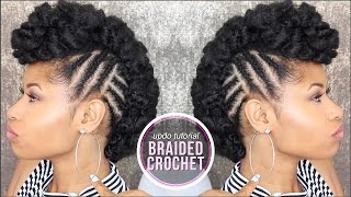 getlinkyoutube.com-How To ➟ SIDE BRAIDED CROCHET UPDO!