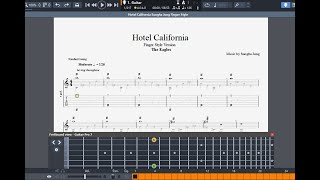 getlinkyoutube.com-Hotel California Sungha Jung Fingerstyle Guitar Pro Tab
