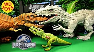 getlinkyoutube.com-New Basher & Biter T-Rex Vs Indominus Rex Jurassic World By WD Toys