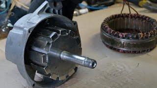 getlinkyoutube.com-Самодельный генератор для ветряка 12 неодимовых магнитов