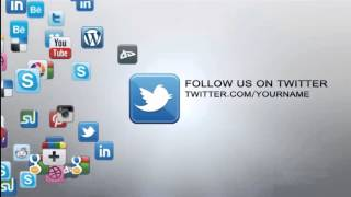 getlinkyoutube.com-Free After effects Template youtube - Social Icons logo