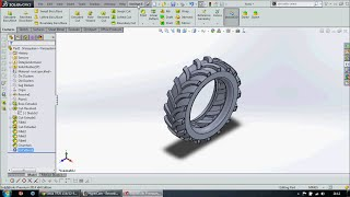 getlinkyoutube.com-SolidWorks software to draw on the tractor tire - Solidworks traktör lastiği çizimi Murat TURHAN