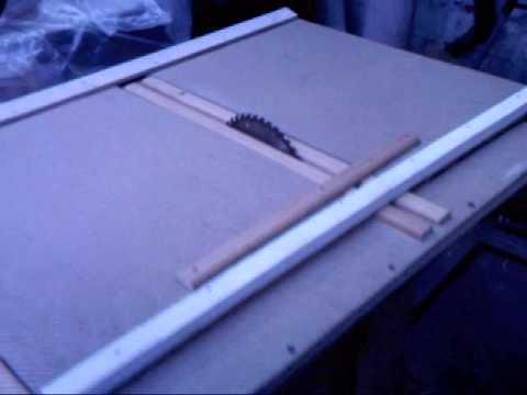 Tutorial como fabricar una sierra de banco casera parte2