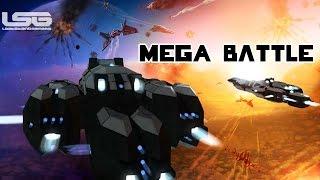 getlinkyoutube.com-Space Engineers - Rail Guns & Auto Cannons, Large Ship Battle
