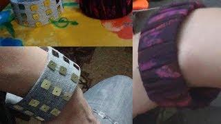 getlinkyoutube.com-Как сделать браслет из Пластиковой бутылки?