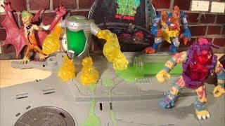 getlinkyoutube.com-2014 TMNT Mutagen Man & Kirby Bat Toy Review