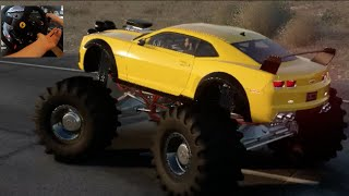getlinkyoutube.com-The Crew : Wild Run Beta GoPro Pt2 Camaro Monster Truck Backflip!