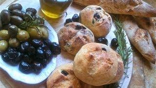 getlinkyoutube.com-Olive Bread خبز الزيتون الاسود