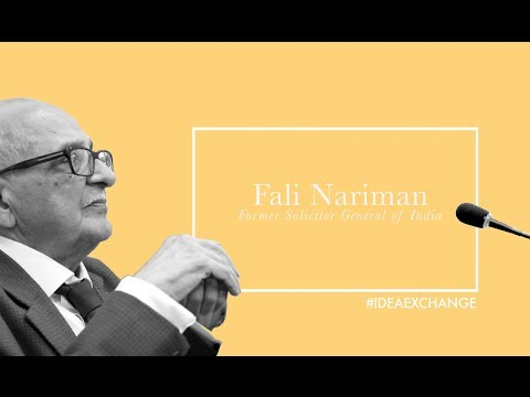 Fali Nariman talks about his association with the Indian Express: Idea Exchange