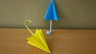 getlinkyoutube.com-How to Make a Paper Umbrella (Rainy Season) - Easy Tutorials