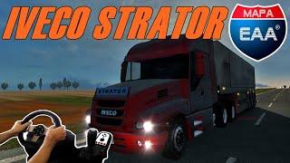 EURO TRUCK SIMULATOR 2 - IVECO STRATOR, MAPA BRASILEIRO, EAA 2.9, VOLANTE G27!!!!
