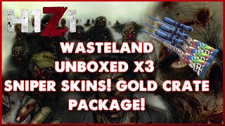 getlinkyoutube.com-H1Z1: Gold Wasteland Crate Pack! 3 Ultra Rare Snipers Unboxed!!