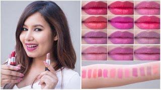 getlinkyoutube.com-Maybelline Colorshow Creamy Matte Lipcolor Swatches | Sonal Sagaraya