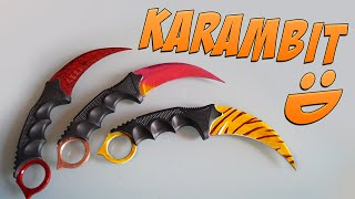 getlinkyoutube.com-CS:GO Knife Painting: Karambit | Fade & Tiger Tooth