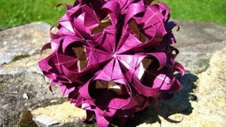 getlinkyoutube.com-Origami ✿⊱╮Corn - Flower ✿⊱╮Kusudama