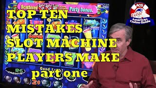 Top 10 Mistakes Slot Machine Players Make with Mike