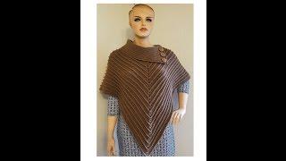 getlinkyoutube.com-CROCHET How To #Crochet The Classy Cowl Poncho Ladies #TUTORIAL #360