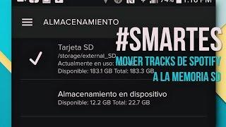 getlinkyoutube.com-Guarda tu música offline de Spotify a la memoria SD #SMARTES
