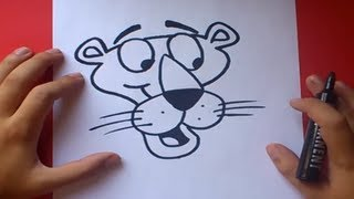 getlinkyoutube.com-Como dibujar a la pantera rosa paso a paso | How to draw the pink panther