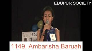 Singing by Ambarisha Baruah