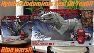 getlinkyoutube.com-Dinosaur Toys: Jurassic World's Indominus Rex and Velociraptor Action Figures Unboxing & Playtime