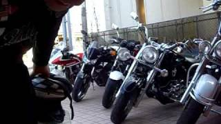 getlinkyoutube.com-美女ライダー YAMAHA Dragstar 400 1100  ドラックスター