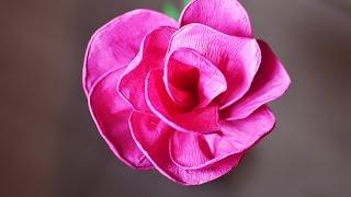 Kwiaty z bibuły - Róża