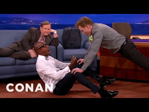 Conan Is J.B. Smoove's Workout Lady @ConanOBrien