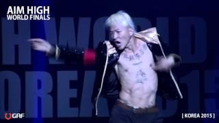 getlinkyoutube.com-AIM HIGH FINAL KOREA 2015 /Judge show/ poppin hyunjoon / 팝핀현준 /