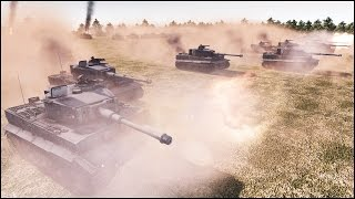 getlinkyoutube.com-10 SUPER-HEAVY TORTOISE TANKS vs 50 TIGERS - Men of War Assault Squad 2 - Editor Scenario #80