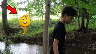 I WAS ALMOST KIDNAPPED BY GENE THE EMOJI IN THE WOODS! *ON CAMERA*