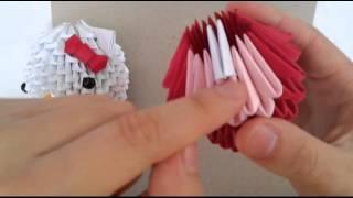 getlinkyoutube.com-3D origami hello kitty (new version) part 1