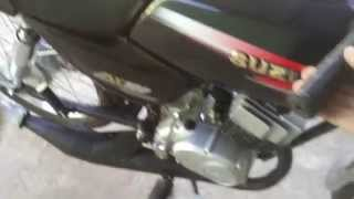 getlinkyoutube.com-SUZUKI AX100 LLEVADO A 117 CC ESCAPE MACONDO Y TAPA