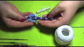 getlinkyoutube.com-Все для плетения вязаного жгута крючком из бисера. ОСТОРОЖНО!!!!!!!!!!!! очень подробно :))