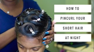 getlinkyoutube.com-HOW TO PINCURL YOUR SHORT HAIR AT NIGHT | THEHAIRAZORTV
