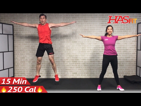 15 Min Cardio HIIT Home Workout without Equipment for Fat Loss & Strength Training Exercises Routine
