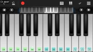 Dekha hai pehli baar|song|Mobile Piano Tutorial| Learn Piano bollywood hindi song