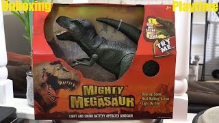 Dinosaur Toys for Kids: Mighty Megasaur T-REX with Lights & Sounds Unboxing