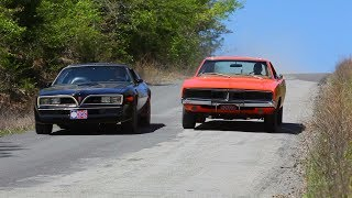 Hero Car Showdown! General Lee Dodge Charger VS Smokey and the Bandit Trans Am Trigger