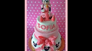 getlinkyoutube.com-Tutorial Topolina in pasta di zucchero Minnie cake topper sugar paste