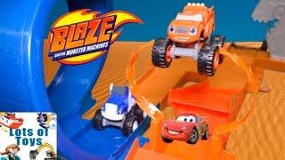 getlinkyoutube.com-Blaze and the Monster Machines Monster Dome Race Blaze Vs. Crusher, Disney Cars, Dusty