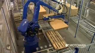 getlinkyoutube.com-Motoman robots packing IKEA book cases