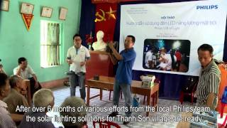 Philips Gift of Light Project: Lighting for Thanh Son in Vietnam